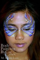 Under eye fairy butterfly face by Bodypaintingbycatdot
