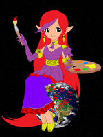 Charlina, the goddess of Arts and Music by Atilea