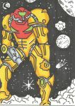 Samus Sketch Card by kylemulsow