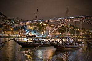 Rebelo's Boats at night by fcarmo-photography