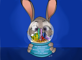 Zootopia Snowglobe by Quirky-Middle-Child