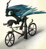 bicycle.queen chrysalis.sketch by rule1of1coldfire