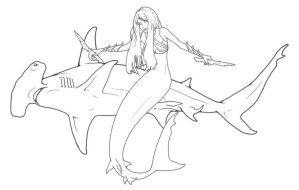 Hammerhead Shark Mermaid by ReQuay