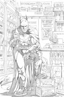 Bottle Shop Batman by Merrk