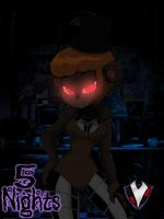 5 Nights - Francine Fazbear by PlayboyVampire