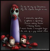 My Pet Zombie Christmas Day 7 by fallnangeltears