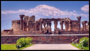 Zvartnots Cathedral and Ararat by Dorcadion