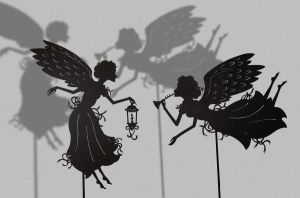Two Angels - Shadow Puppets by PaperTales