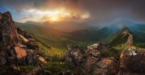 Sunset in Carpathian Mountains. Ukraine by Sergey-Ryzhkov