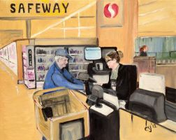 Safeway in the Morning by CarolynYM