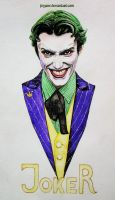 Harley's Joker in watercolors by Feyjane