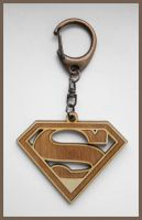 SUPERMAN - wood keyring by Piciuu