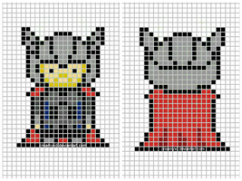 Thor cross-stitch keychain template by CreamyXD