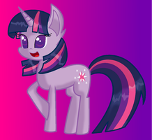 Twilight Sparkle (in other pony style) by SOLO-BANANA