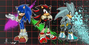 Boy Boom Hedgehogs (Own Coloured version) by leonarstist06