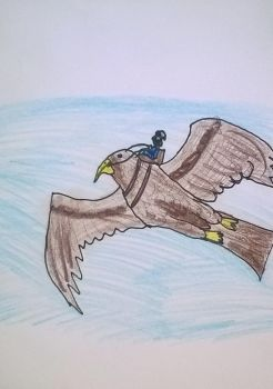 Riding the Great Eagle by TheReptilianGeneral
