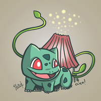 Bulbasaur charging his bulb by Italiux