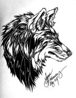 Tribal Wolf by LupusSpirit