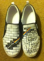 Pink Floyd The Wall/Dark Side of the Moon Shoes by flamestar442