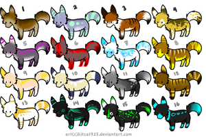 CLOSED- Canines Adoptables 106 - LOWERED PRICE by LeaAdoptables