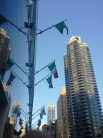 Flag in the City by TheBlondeGinger