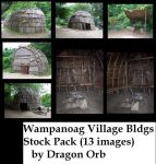 wampanoag buildings stock pack by dragon-orb