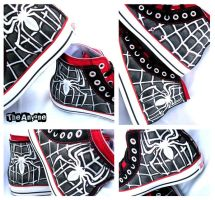 Spiderman Venom Converse by TheAnyone