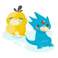 Day 154 - Psyduck and Golduck by salvadorkatz