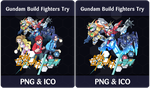 Gundam Build Fighters Try - Anime Icon by Rizmannf