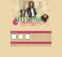 Coppermine Gallery Design with Selena Gomez by Redloves
