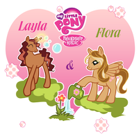 Layla and Flora : Friendship is magic by Fiesonie