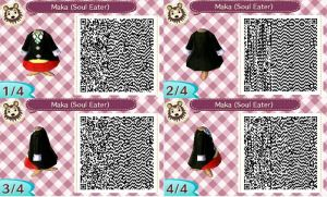 QR Code Animal Crossing- Maka (Soul Eater) by Lorenius11