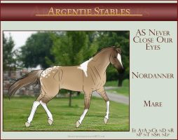 5072 AS Never Close Our Eyes - SOLD by Argentievetri