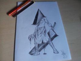 Pyramid Head - Silent Hill by NewbieDrawings