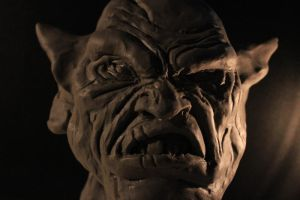 Clay model for Korr Ga'hal, the orc by BPuig