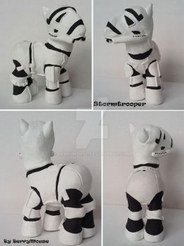 My little Pony Custom Star Wars Stormtrooper by BerryMouse
