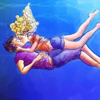 Percabeth: the best underwater kiss of all time by pebbled