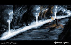 Ancient Cave Concept by AsheGHOST