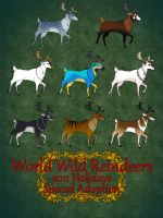 Holidays special adopt World Wild Reindeers CLOSED by RyuAmano