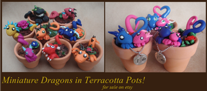 Miniature Dragons in Terracotta Pots! by piperpolymer