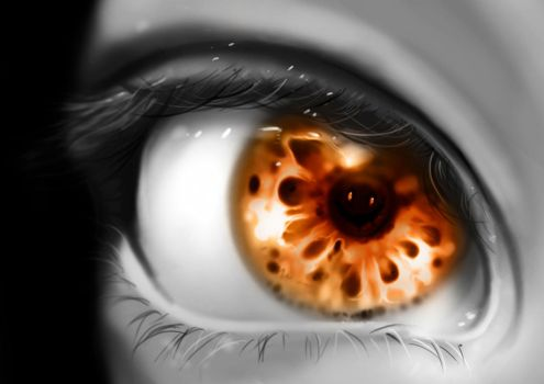Demon in the eye by ryky