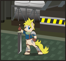 Ponified Cloud Strife by Goofycabal