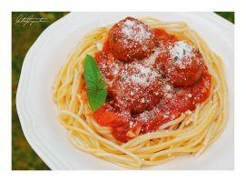 Spaghetti with Meatballs by VintageWarmth