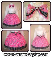 Pink kitty lolita skirt by The-Cute-Storm