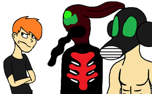 Art Trade: Garth, Doctor Mask And Cole by CARTOONFANATIC3