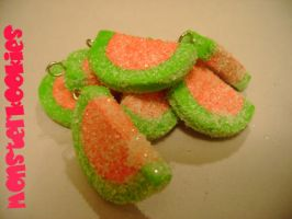 Sour Watermelon Charms by monsterkookies