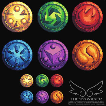 Pixel Medallions (2 3 2017) by theskywaker