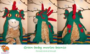 Green baby murloc beanie FOR SALE by Sasophie