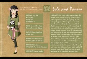 Lola Character Sheet by Lunanae