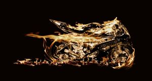 Bike on Fire! by Ezri-Krios